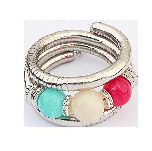 Sunne Fashion Metal Candy Color Sweet All-match Turquoise Bracelet(Three-colour) - Rolo Candy Costume