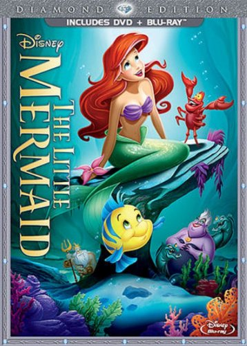 The Little Mermaid (Two-Disc Diamond Edition: Blu-ray / DVD in DVD Packaging) (Disney Ray Blue Princess Movies)