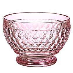 Rose Crystal Boston Glass Bowl Set of 4