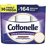 Cottonelle Ultra ComfortCare Soft Toilet Paper with Cushiony Cleaning Ripples, Family Mega Rolls, 325 Sheets Per Roll, 18 Count (Pack of 2)