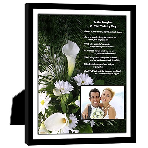 Wedding Gift for Daughter - Heartfelt Poem From Parents in Black 8x10 Inch Picture Frame with Room for a Photo ()