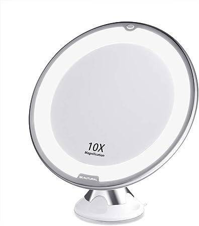 Ampliación 10x - Ideal para aplicar maquillaje y otros tratamientos de belleza que requieran más pre