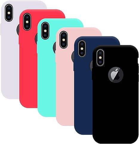 Yidaxing 6X Cover iPhone X, Custodia per iPhone X, Gomma TPU ...