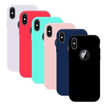 09ffa7386ca 6x Funda iPhone X, Yidaxing Funda Silicona Gel Carcasa Ultra Delgado  Flexible TPU Goma para