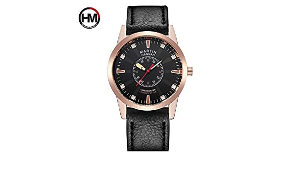 RoadRomao Exquisito Reloj Deportivo con Esfera Hannah Martin HM-1701 Reloj de Pulsera Impermeable para Hombres: Amazon.es: Hogar