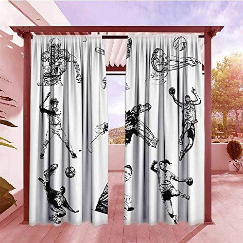 AndyTours - Cortina para Puerta corredera, diseño de líneas de Correr en el Cielo y el Concurso, 2 Paneles, Color Azul y Blanco: Amazon.es: Jardín