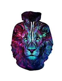Fashion Unisex Space Galaxy 3d Sweatshirts Casual Sports Hoodies With Hat