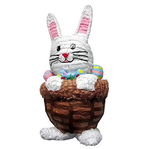Extra Large Easter Bunny in Basket (Bunny Pinata)