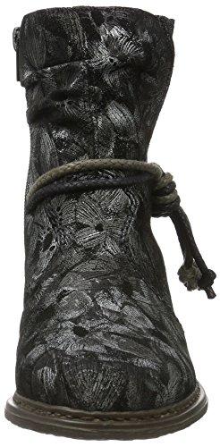 Rieker Z2170, Botines para Mujer Plateado (schwarz-metallic / 90)