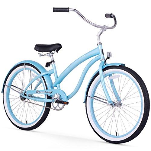 Ladies 24 Beach Cruiser - Firmstrong Bella Classic Single Speed Beach Cruiser Bicycle, 24-Inch, Baby Blue