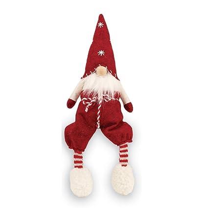 mud pie christmas home decor felt dangle leg gnome sitter red - Amazon Christmas Home Decor