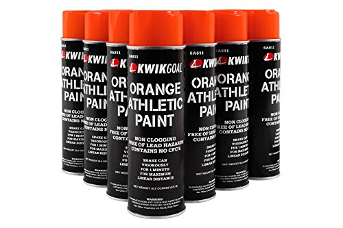 Kwik Goal Athletic Field Paint - Pack of 12 (Orange, 18-Ounce)