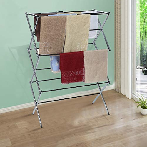 Magnetic Laundry Drying Rack - Littay Clothes Dryer for Hang Laundry Foldable Drying Rack Horse Extendable Telescopic