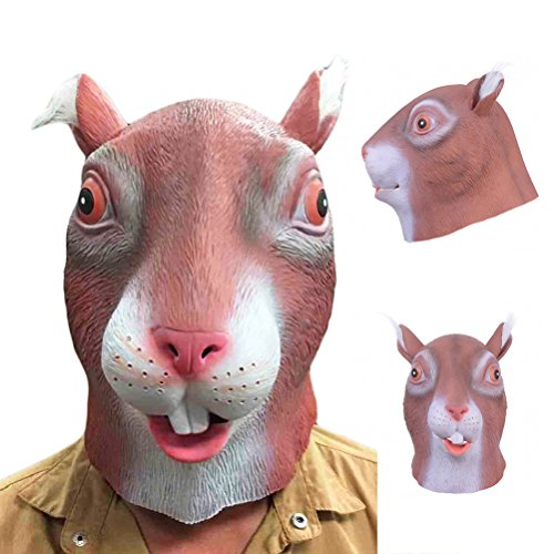 Tinksky Latex Squirrel Mask for Halloween Party Costume party favors by TINKSKY
