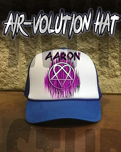 (Personalized Airbrushed Heartagram Snapback Trucker)