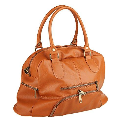 In Handbag Cm Italy Made Borsa Cuoio Pelle Vera 47x29x21 Chicca Con Mano A Tracolla Donna Borse Da Z5axqfwz