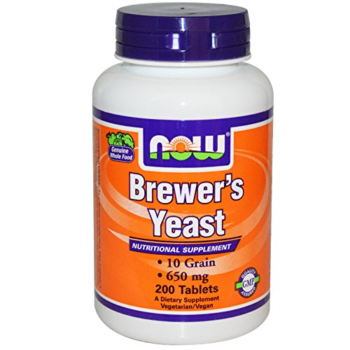 Yeast Dry Brewers (Now Foods, Brewer's Yeast, 650 mg, 200 Tablets (Pack of 2))