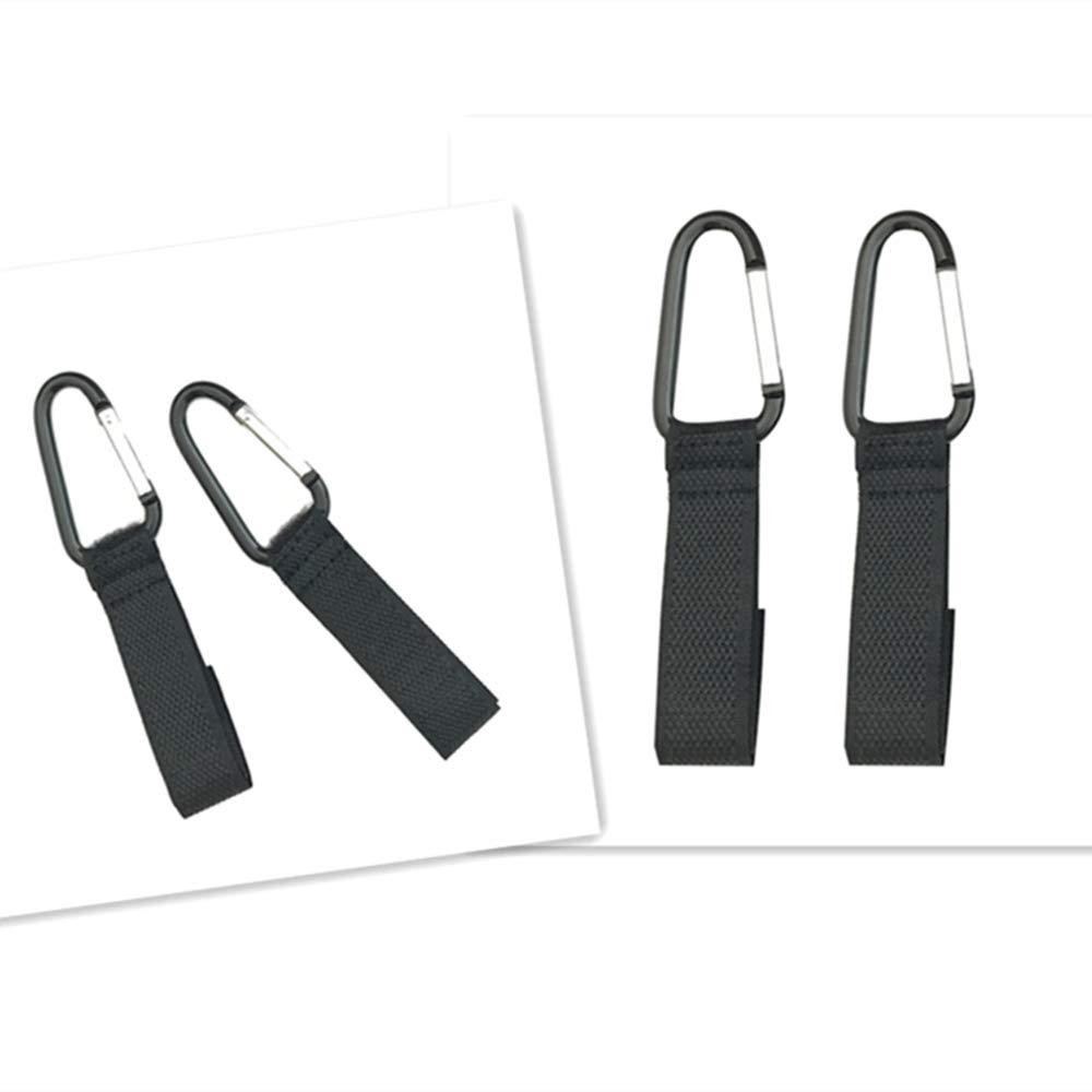 IVYELEC 1pc Multi-Purpose Baby Stroller Adjustable Hook Black Pram Rotatable Hanger Universal Pushchair Buggy Clip for Diaper Bag shopping Bags