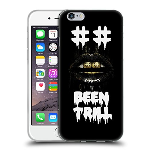 Official Been Trill Hashtag Mouth Grill Glitch Soft Gel Case for Apple iPhone 6 / 6s