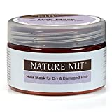 Nature Nut Hair Mask for Dry & Damaged Hair (8.45 oz) For a Soft & Shiny Hair - Rich in Shea Butter & Natural Oils from Macadamia, Argan, Coconut Oil & Brazil Nuts -Paraben & SLS Free-Hypoallergenic