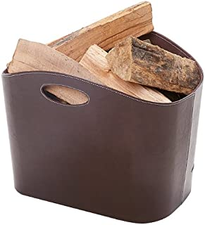 Small Otto Black Faux Leather Log basket/ bucket /storage box (Brown)  sc 1 st  Amazon UK : log storage box  - Aquiesqueretaro.Com