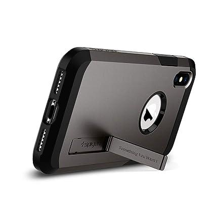 011f448299 Amazon | 【Spigen】 スマホケース iPhone XS ケース/iPhone X ケース 5.8インチ 対応 耐衝撃 米軍MIL規格取得  スタンド機能 タフ・アーマー 057CS22161 (ガンメタル) ...