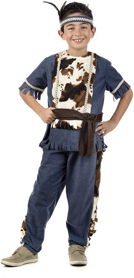 Disfraz de Indio azul para niño: Amazon.es: Juguetes y juegos
