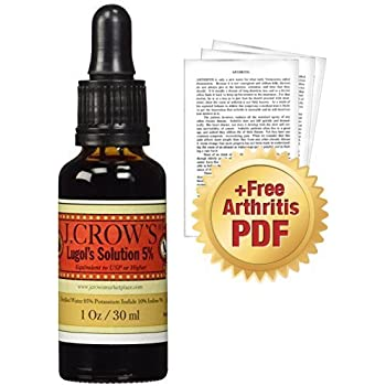 J.CROW'S Lugol's Solution of Iodine 5% + Dr. Jarvis' Special Report: Understanding Arthritis as an Energy Disease