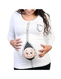 Q.KIM Humor New Mommy Maternity Top Shirt Funny Pregnancy Pregnant T shirts