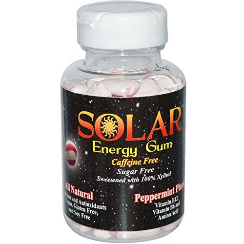 (B-Fresh Peppermint Planet Solar Energy Gum, 100ct, No Sugar)