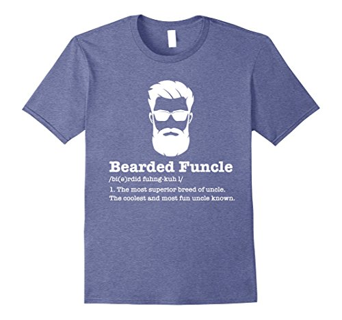 Mens Bearded Funcle Shirt Funny Uncle Vintage Style T Shirt Large Heather - Men Style Bearded