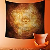 Home Decor mDem Trap Symbol Logo Ceremy Creepy Ritual ntasy Paranormal Tapestry Wall Hanging Art for Living Room Bedroom Dorm Home Decor 55W x 55L Inch