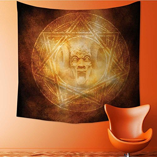 Home Decor mDem Trap Symbol Logo Ceremy Creepy Ritual ntasy Paranormal Tapestry Wall Hanging Art for Living Room Bedroom Dorm Home Decor 55W x 55L Inch by Vanfan