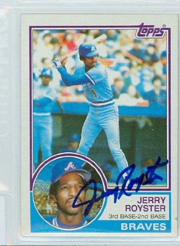 Jerry Royster AUTOGRAPH 1983 Topps #26 Atlanta Braves