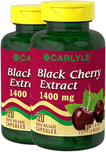 Carlyle Black Cherry Extract 1400mg 240 Capsules | Non-GMO, Gluten Free | from Concentrate Review