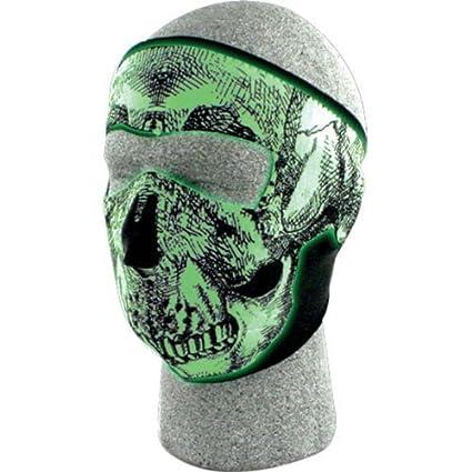 2536d527 Amazon.com: Zan Headgear Skull Men's Glow in the Dark Full Face Mask Street  Bike Racing Motorcycle Helmet Accessories - One Size Fits All: Automotive