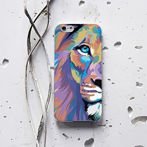 WolfCase Phone Plastic Silicone Custom Personalized Monogrammed Lifeproof Luxury Fasion Case Clear for Samsung Galaxy S8 S8 Pus S5 S6 S7 Edge Note 4 5, Lion, - Hipster Fasion