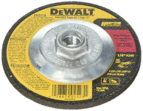 Dewalt DW4523 20 Pack 4-1/2-Inch by 1/4-Inch by 5/8-Inch General Purpose Metal Grinding Wheel by DEWALT