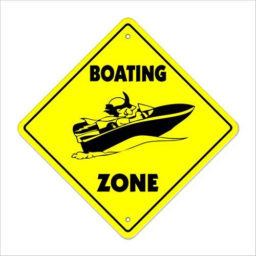 Boating Crossing Sign Zone Xing | Indoor/Outdoor | 12