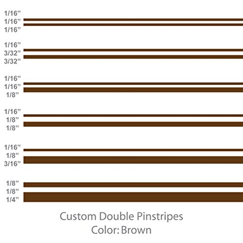 1060 Graphics Double Vinyl Pinstripes/Pinstriping (Brown) 1/16