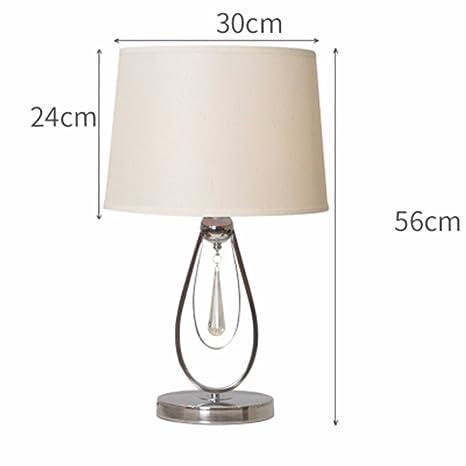 QPGGP-Lámpara de mesa Dormitorio moderno Lampara de mesa ...