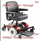 "Invacare - Pronto M41 - Fold Down Power Wheelchair - 18"" x 18"" Seat - Red - PHILLIPS POWER PACKAGE TM - TO $500 VALUE"