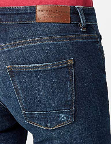 Esprit blue Vaqueros Wash Slim Azul Dark Mujer 901 Para xXCXrzgw