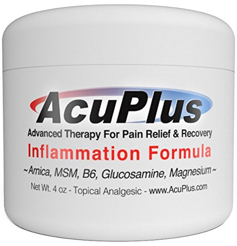 Inflammation Muscle Pain (AcuPlus Pain Relief Cream, 4 Oz. - Advanced Therapy for Relief and Recovery from Bursitis, Tendonitis, Joint Pain, Arthritis Pain, and Muscle Pain.)
