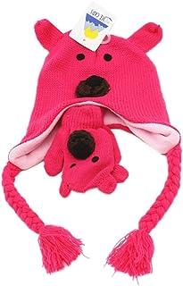 Clispeed Berretto e Guanti Bambino Animali Berretto Invernale a Forma di Orsetto per Bambini