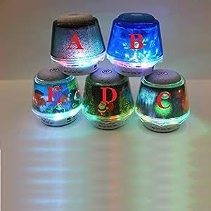 ARBUYSHOP regalos de Navidad luminoso de conexiones inalámbricas tarjeta de altavoz del teléfono bluetooth Mini teléfono móvil de descarga de música MP3 de audio subwoofer Bluedio