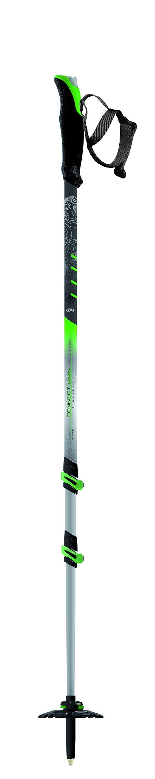 TSL Snowshoes Trek Aluminum 3 Part Poles, Green/Black, 28.5-55'' by TSL Snowshoes