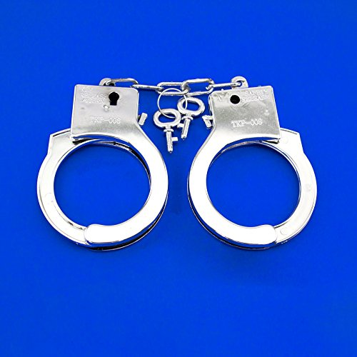 Adorox Police Cowboy Handcuffs Halloween Jail Sheriff Costume Party Favor Prop