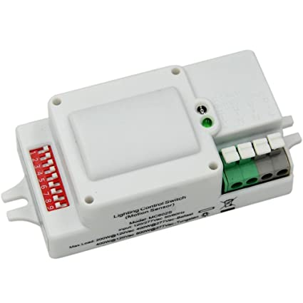 Motion Sensor Switch Automatic Switching Based on Motion and Ambient Light Level for Garages, Warehouses
