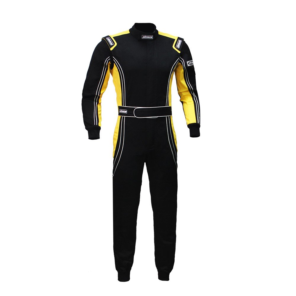 jxhracing RB-CR014 One Piece Auto Go Karts Racing Suit Yellow X Large
